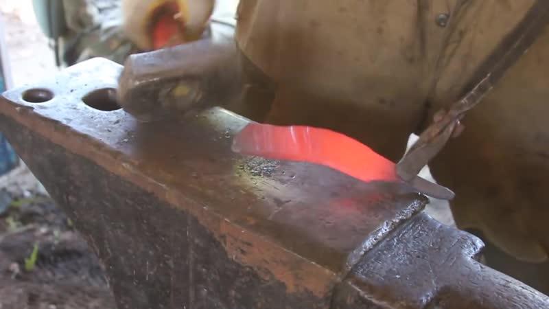 Кованный нож из стали х12мф. Путь от болванки до ножа