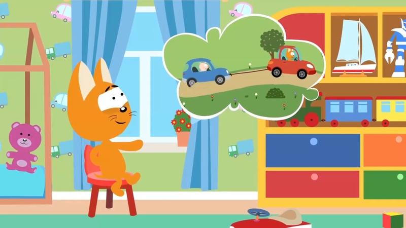 Мультфильм про машинки – Котенок и волшебный гараж – Ледяная гора