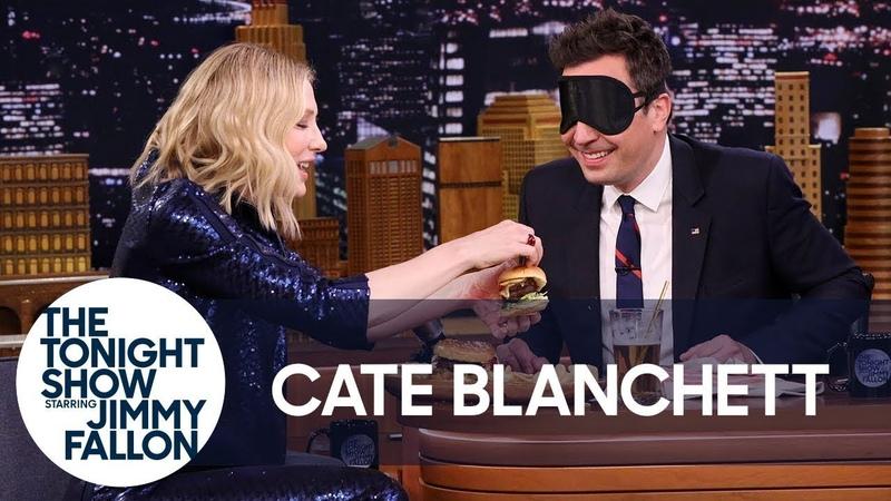 Cate Blanchett Gives Jimmy a Blind Burger Taste Test