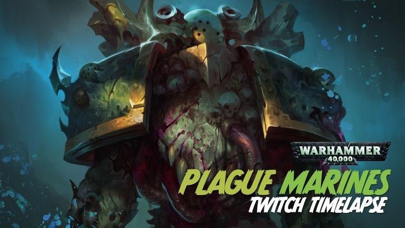 Plague Marine - Twitch Painting Timelapse