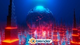 Blender - Easy Sci-fi City Animation in Eevee (Blender 2.8)