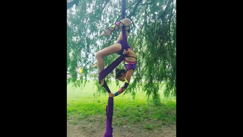 Aerial silk's Альфа Dance