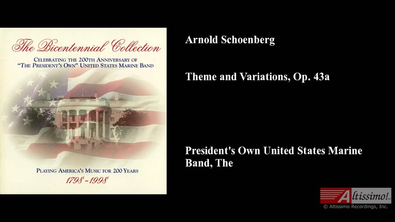 Arnold Schoenberg Theme and Variations Op 43a