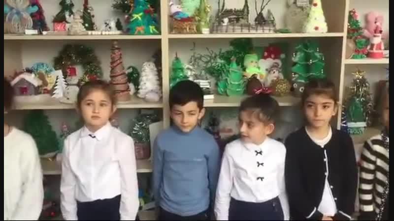 коллективное поздравление и стихами и танцем прислали ученики школы 1 г Моздока