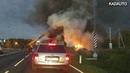 На трассе Калининград Советск сгорел трактор груженный сеном 21 10 18