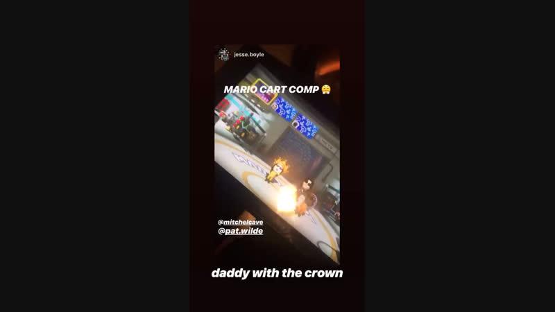 Instagram Story Mitchel Cave 16/11/18