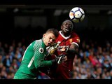 Sadio Mane handed straight red card for challenge on Ederson. Man City vs Liverpool | 09/08/2017