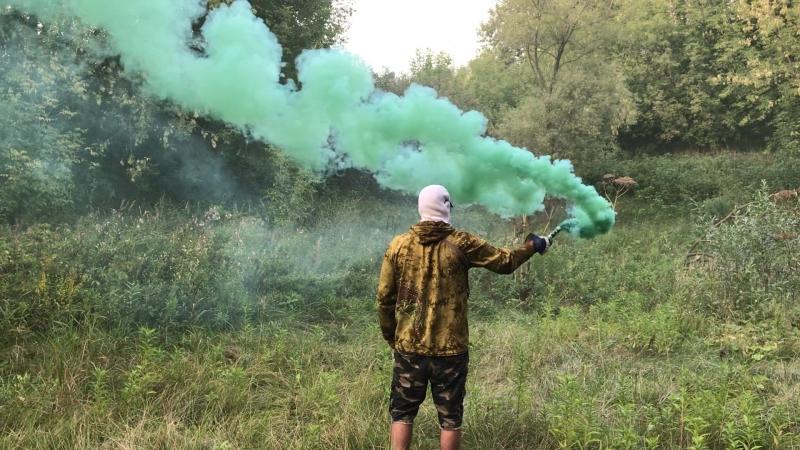 Цветной дым МДП зеленый