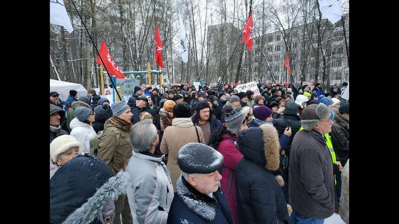Анастасия Удальцова на митинге в Кунцево: Защитим нашу Москву от варваров!