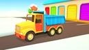 Vehículos de servicio despejan el camino Dibujos animados de coches