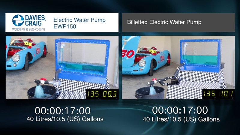 Davies, Craig Electric Water Pump (EWP) Comparison with Billeted Unit