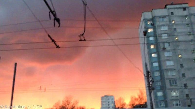 95 » Феерично-огненный закат над Москвой...