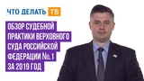 Обзор судебной практики Верховного Суда Российской Федерации № 1 за 2019 год