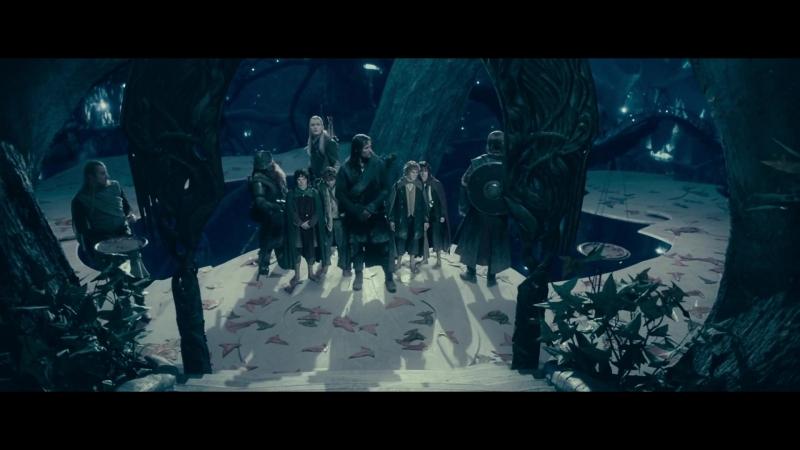 Братство Кольца встречается с Владычицей Галадриэль. HD