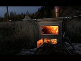 NOMAD - BEST GSTOVE ALTERNATIVE - Portable Wood Stove for Winter Camping in a Canvas Tent &amp Cooking