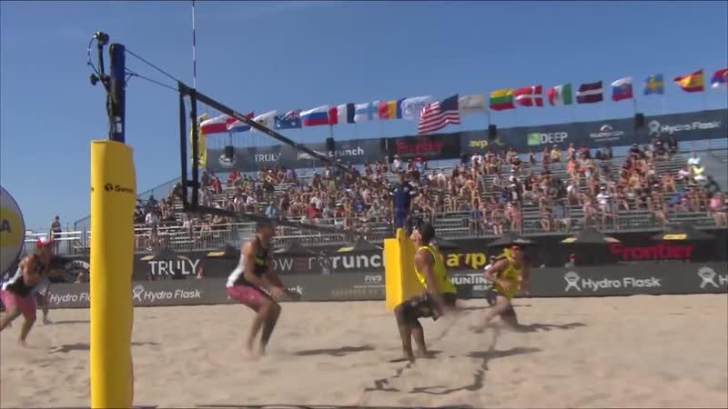 2018 FIVB Huntington Beach Open_ Plavins_Tocs vs. Dalhausser_Lucena