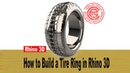 Men's Tire Ring 3D Modeling in Rhino 6 (2018)- Jewelry CAD Design Tutorial 37