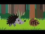Развивающие и обучающие мультики для детей - Ёжик (детские песенки) мультфильмы про животных