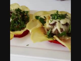 Цветы из картофеля и мясных шариков - Личный повар (Рецепт под видео в описании)
