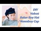DIY Velvet Baker Boy Hat Newsboy Cap