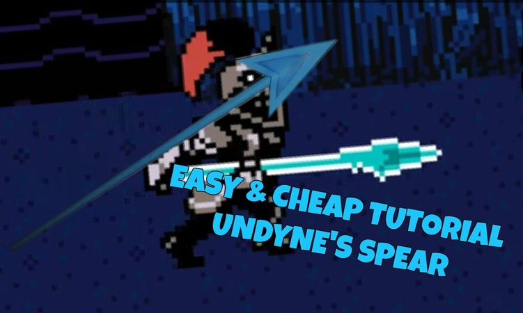 【Cosplay Tutorial】Undyne's spear *EASY, FAST CHEAP* - Rinku Rose cosplay