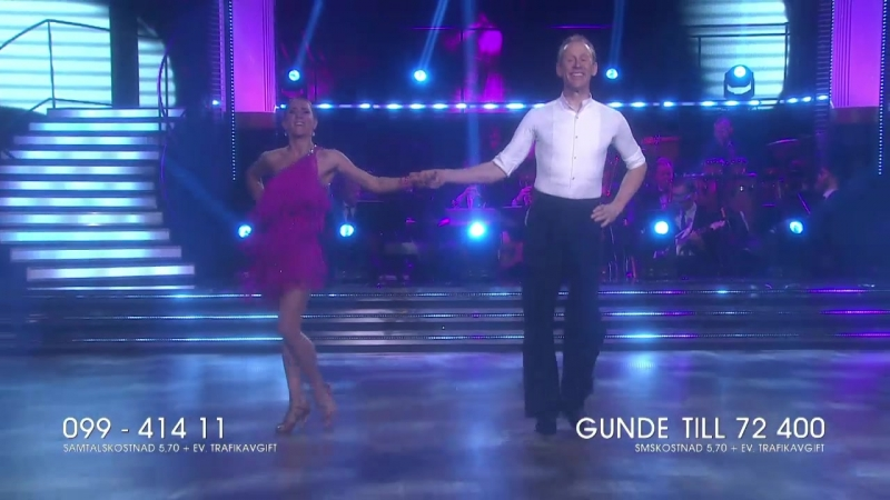 Gunde Svan and Jeanette Carlsson-Cha Cha.(Let s Dance 23.03.2018.)
