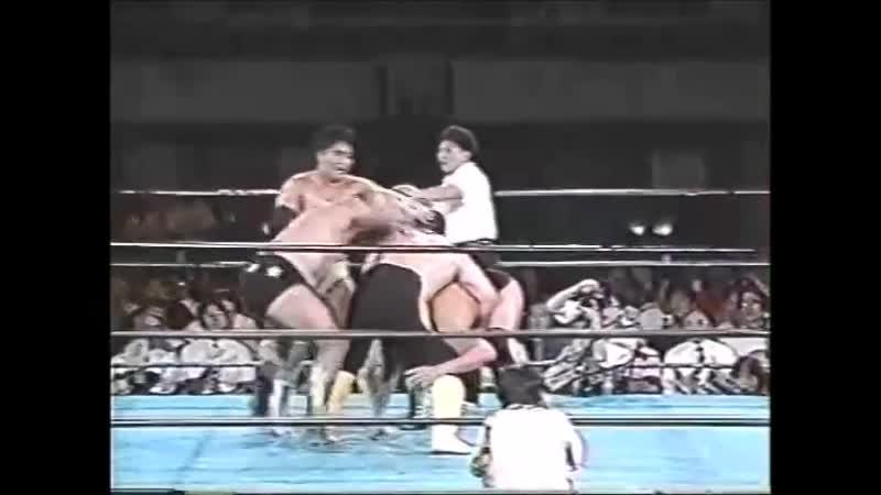 1996.08.22 - Toshiaki Kawada/Akira Taue/Yoshinari Ogawa vs Takao Omori/Satoru Asako/Masao Inoue [JIP]
