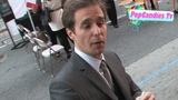 Sam Rockwell sign for fans at Iron Man 2 Premiere at El Captain Theater in Hollywood