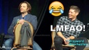 Jensen Can't Stop Laughing At Jared's German Speaking Fail SPNLVCON 2018