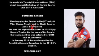 Mandeep Singh Indian Cricketer Biography With Detail