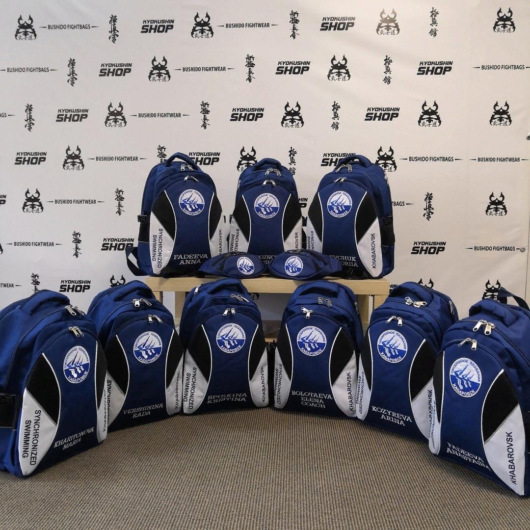 Крутые рюкзаки для синхронисток из Хабаровска!