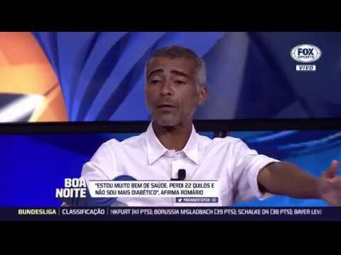 BOA NOITE FOX - ROMARIO AFIRMA FUI MELHOR QUE MESSI E MARADONA JUNTOS -