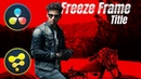 Freeze Frame Title using DaVinci Fusion