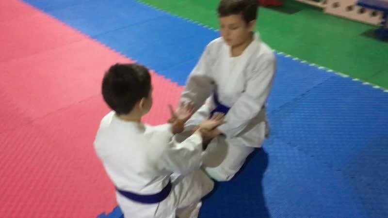 Повторяем технику «сувари ваза (сидя), реато дори (захват за обе руки), кокюхо» | Айкидо | 合気道 | Aikido