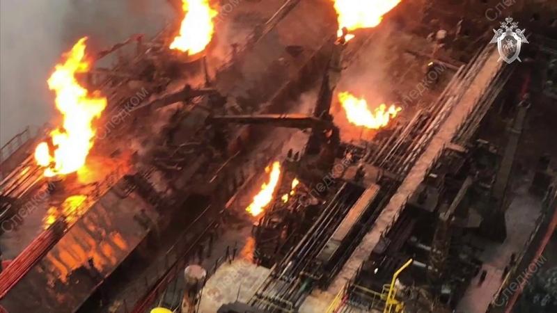 ВестиКрым.рф Видео тушения пожара в Черном море
