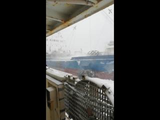 Буран в Охотском Море