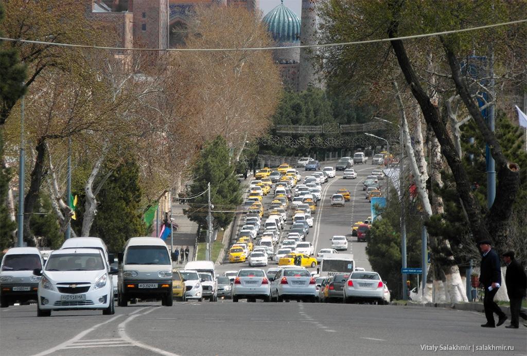 Улица и площадь Регистан, Узбекистан, Самарканд 2019