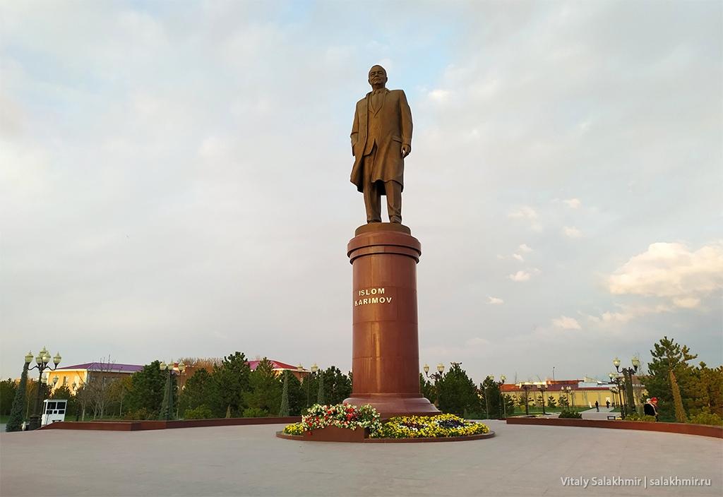 Памятник Исламу Каримову, Самарканд 2019