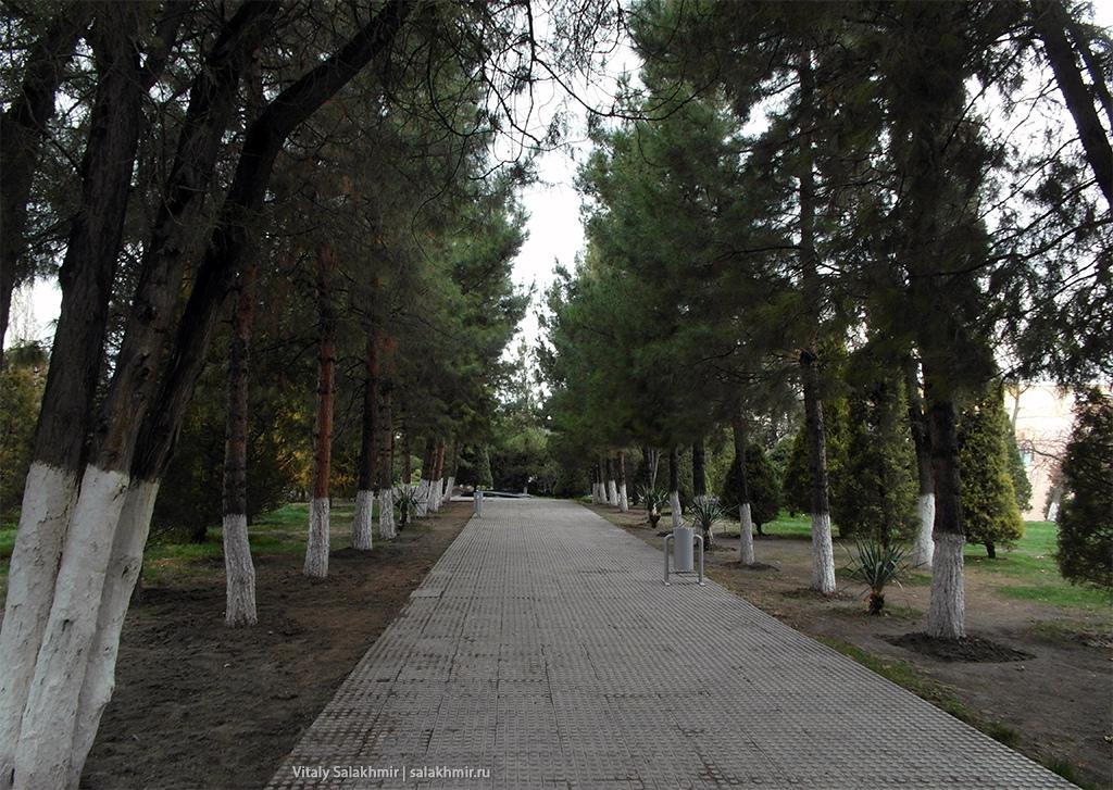 Парк в центре Самарканда, Узбекистан 2019