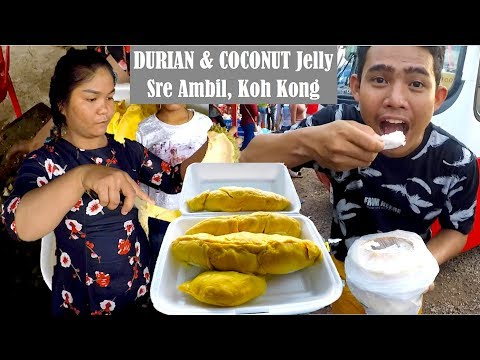 Durians at Koh Kong Sre Ambil Circle in Cambodia | We Travel from Koh Kong to Phnom Penh