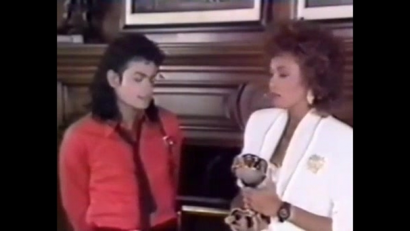 Michael Jackson Accepts Two Awards From Whitney Houston (1989)