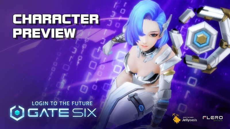 Gate Six - Character Preview - CBT - Android on PC - Mobile - F2P - KR