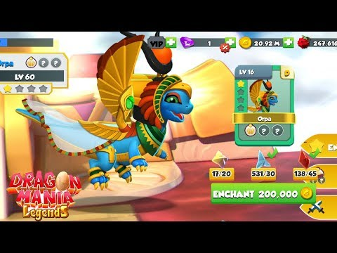 ISIS Dragon Hatching! , ( Upgrade Level 1-60 ) , Gameplay , Dragon Mania Legends | Part 1161 HD