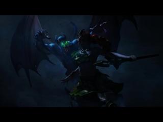 Анимированная версия арта night stalker vs enchantress.
