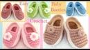 Pantuflas a Crochet para bebes niñas niños tejido paso a paso tallermanualperu