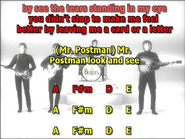 Please Mister Postman Beatles mizo lead vocals lyrics chords