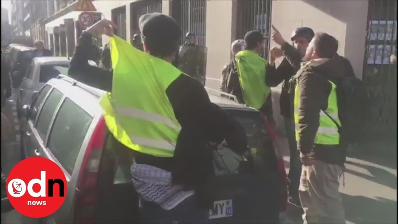 Yellow vest protesters hurl anti-Semitic abuse at academic on Paris street