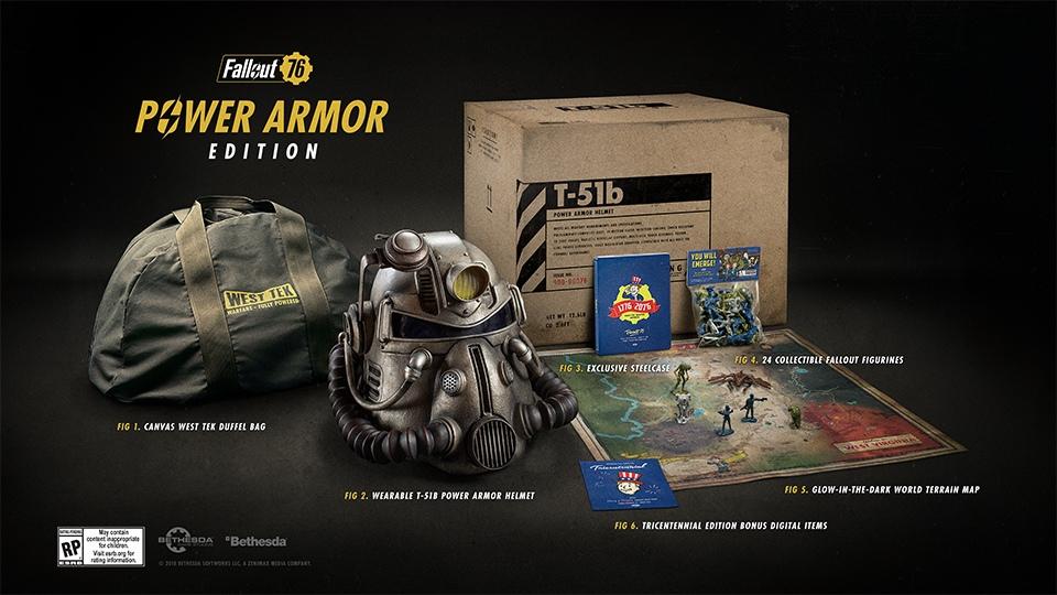 Коллекционное издание Fallout76 Power Armor Edition было распродано менее чем через 24 часа после презентации на Bethesda E3 2018