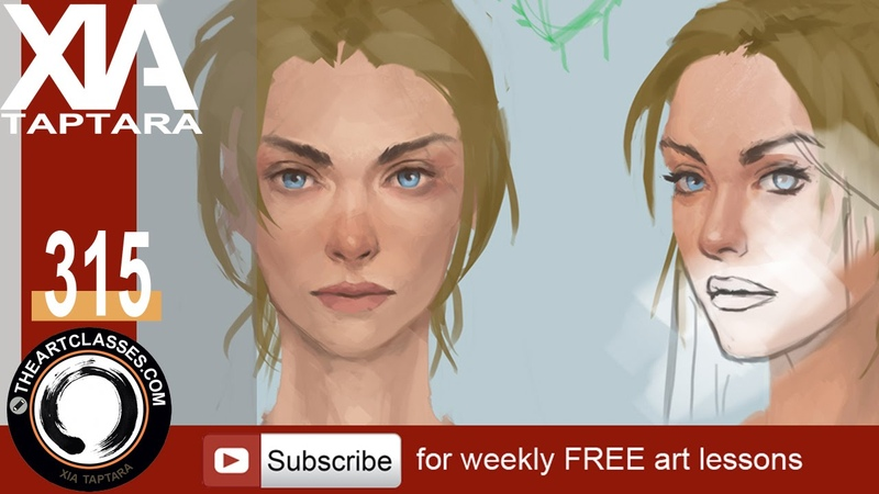 Painting character portrait tutorial preview - digital painting