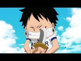 Luffy tries to cut his eye Episode of East Blue